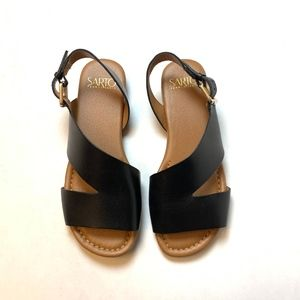 Franco Sarto Black Sandals Size 5